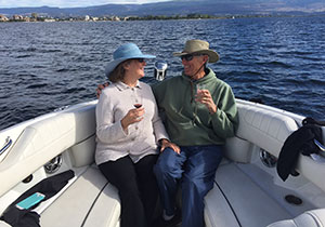 Kelowna Water Taxi Cruises offers a variety of leisurely boat cruise itineraries as well as a point to point water taxi service.